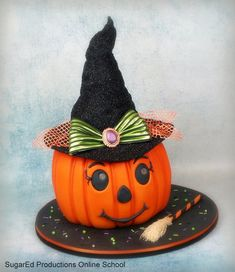 jack o lantern witch cake video tutorial for $1
