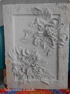 Картина панно рисунок Мастер-класс Лепка Панно-барельеф Яблоневый цвет Гипс фото 25