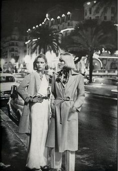 A Few of Our Favorite Things..., US Vogue March 1976  Photo Helmut Newton   Models Patti Hansen and Gunilla Lindblad