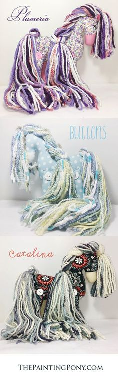 CUTE Stuffed Horse Toy. Artisan collaborated stuffed cotton ponies that are one of a kind and truly unique! Limited editions as each is made by hand and with love. Once each is sold, there are no more! These stuffed cotton ponies are wonderful heirloom gifts for children and equestrian horse lovers of all ages.