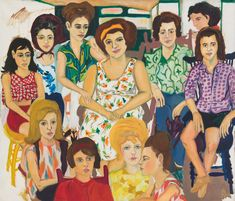 Mimi Gross, Grand Street Girls, oil on canvas, 60 x 70 in. Cady Noland, Gerhard Richter Painting, Street Girl, Jewish Museum, New York Photos, Classic Paintings, Community Art, Figure Painting, Abstract Expressionism
