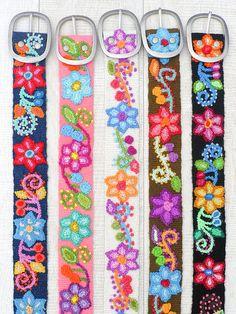 Correas bordadas cinturones para mujer cinturón bordado