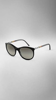 183ba795b471 Check Detail Cat-Eye Sunglasses Burberry Sunglasses