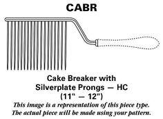 "Gorham Chantilly (Sterling,1950,""Gorham"") Cake Breaker with Silverplate Prongs HC"