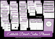 direct sales printable planner editable chevron thirty one origami owl scentsy mary kay organize pdf work at home self employed