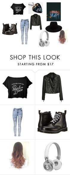 """""""Panic! At The Disco"""" by whitenoiseiswatching ❤ liked on Polyvore featuring Paige Denim, Dr. Martens, Master & Dynamic and rag & bone"""