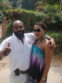 Making friends in Ocho Rios