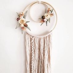 boho-wall-hanging-boho-dream-catcher-dried-flowers-floral-wall-hanging-dream-catcher-bohemian/ - The world's most private search engine Mural Floral, Floral Wall, Yarn Crafts, Diy Crafts, Creative Crafts, Selling Handmade Items, Boho Wall Hanging, Diy Hanging, Hanging Plants