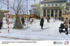 Carmel Center Green - Winter Activities | Carmel, Indiana, USA | Design: Rundell Ernstberger Associates