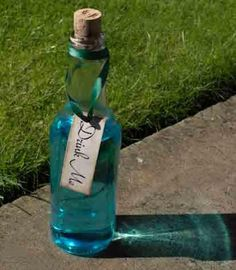 This website has everything you need to make your own Alice in Wonderland party.. including a recipe to make your own Drink Me potion.