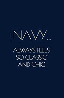 Quote in Navy Blue and White