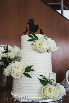 Personalize Your Wedding Cake Topper With A Silhouette Of You Furry Friends
