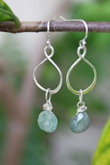 INFINITY AQUAMARINE EARRINGS