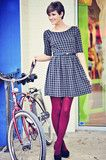 EVERLY: What Is Houndstooth Dress: Black