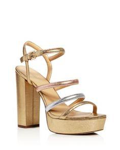 MICHAEL Michael Kors Nantucket Metallic Platform High Heel Sandals  | Bloomingdale's