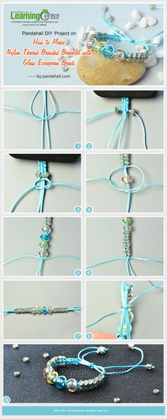 Pandahall DIY Project on How to Make Nylon Thread Braided Bracelet with Glass European Beads