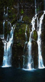 """un-gif-dans-ta-gueule: """"Cascade Langevin - Île de la Réunion I am super busy recordind 'So Suddenly' …I can't wait to get some tunes out to you guys! Cool Tumblr, Photo Awards, Les Cascades, Gif Animé, Travel Channel, Beautiful Waterfalls, Gothic Architecture, Grand Tour, Tool Design"""