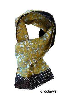 Foulard liberty capel moutarde et pois : Echarpe, foulard, cravate par crocmyys