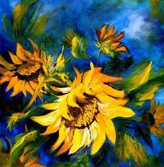 Cuadros Modernos Pinturas : Flores en acuarela