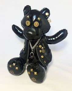 OOAK Exclusive Bear Handmade leather latex bdsm look by HommyStore