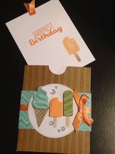 3d Cards, Folded Cards, Stampin Up Cards, Handmade Birthday Cards, Happy Birthday Cards, Scrapbooking, Scrapbook Cards, Cupcake Card, Pocket Cards