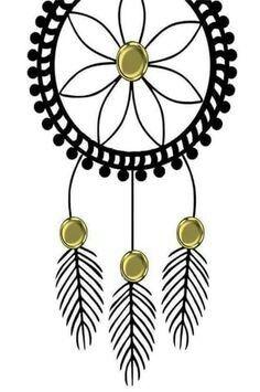 Filtro preto detalhes flores e bolinhas douradas