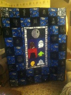 Looking for quilting project inspiration? Check out Star Wars and Super Hero Glow'n Dark by member Gemma Potts. Finished with techniques from Beyond Basic Machine Quilting on Craftsy.