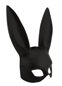 "$13.98 | Adorox Black Sexy Bondage Bunny Rabbit Mask | Approximately 8"" Wide x 14"" Tall 