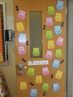 5th Grade Ela, Teaching 5th Grade, Fifth Grade, Classroom Door, Classroom Setup, Classroom Design, Teacher Websites, Teacher Stuff, Too Cool For School