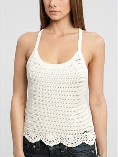 ++++++++++++++++++Crochetemoda:+Top+Branco+de+Crochet