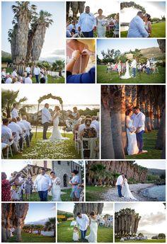 Sun, sea, grass and palm trees. A palm perfect private wedding venue Private Wedding, Crete, Palm Trees, Real Weddings, Wedding Planner, Grass, Wedding Venues, Photo Wall, Sun