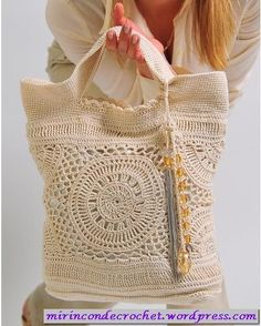Lovely crochet bag Spanish pattern but with charts