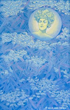 Artemis - acrylic painting on canvas by Vera Ema Tataro