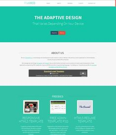 flatweb a single page responsive free website html template