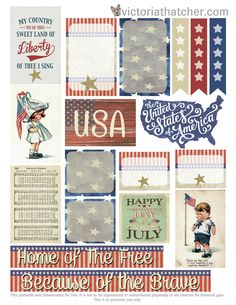 Free Independence Day Planner Printable | Victoria Thatcher