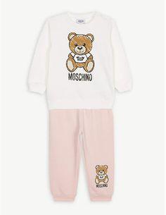 57c2cc0be MOSCHINO Bear print cotton sweatshirt set 6 months - 3 years