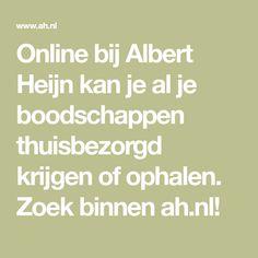 Online bij Albert Heijn kan je al je boodschappen thuisbezorgd krijgen of ophalen. Zoek binnen ah.nl! Math Equations, Vanilla