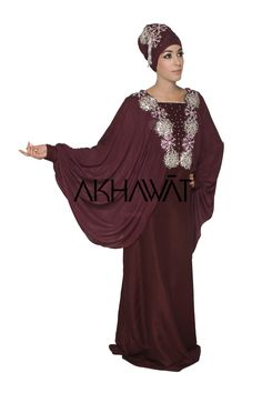 Akhawat - Unique Bridal Abayas & Bridal Hijabs Hijab Evening Dress, Evening Dresses, Scarf Design, Abayas, African Attire, Hijabs, Signature Collection, Engagements, Middle East