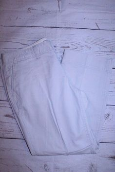 Old Navy Pants 6 Gray Chalk Pocket Front Cotton Blend Casual Capri Pants  #OldNavy #CaprisCropped