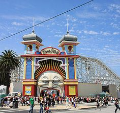 Old fashion theme park, St.Kilda in Melbourne!