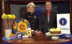 Kansas Sunflower Cake  | From the Land of Kansas