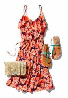 My summer wardrobe is going to consist of dresses and sandals. #gap
