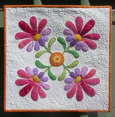From the Piece of Cake ladies pattern, Aunt Millie's Garden. Blogged here.