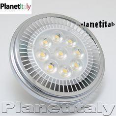 ak111 - Lampada led attacco AR111 - planetitaly - Lampada led ar111 9 led power 12w luce calda 12v G53