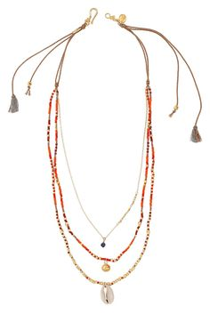 Red Mix Multi Strand Necklace - Chan Luu                                                                                                                                                                                 More