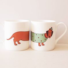larry the long dog mug by mary kilvert   notonthehighstreet.com