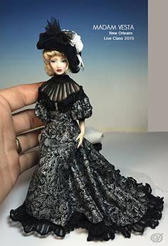 Vesta  Dana of Miniature Art - 1:12 scale Art Dolls