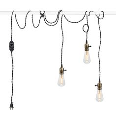 Vintage Pendant Light Kit Cord with Dimming Switch and Triple Industrial Light Socket Lamp Holder Twisted Black Cloth Bulb Cord Plug in Hanging Light Fixture Plug In Hanging Light, Plug In Pendant Light, Hanging Light Fixtures, Pendant Light Fixtures, Hanging Lights, Pendant Lamp, Vintage Pendant Lighting, Vintage Lamps, Industrial Lighting