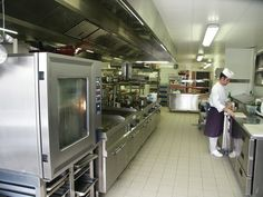 Commercial kitchens incorporate cooking stations and appropriate equipment to operate the stations. The type of cuisine offered by the restaurant, as well as the philosophy and preparation techniques ...