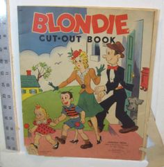 Vintage Blondie Cut-Out Book Whitman publishing 1944 #981 by julesartstuff on Etsy